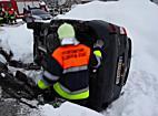 Unfall Feldkirch PKW in Baugrube