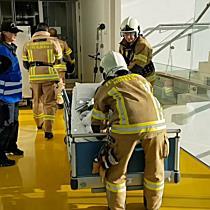 Feuerwehrübung am LKH Feldkirch