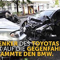 Bregenz: Frontal-Crash auf der Rheinstraße