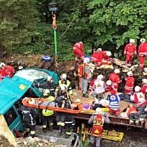 """Katastrophenübung """"Would 2017"""": Rettungskräfte trainieren in Vorarlberg Einsatz bei Zugsunglück"""