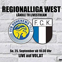 LIVE: VFB Hohenems vs. FC Kufstein