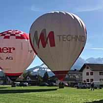 Heißluftballon Start in Nenzing