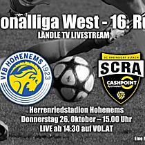 LIVE: VfB Hohenems vs SCR Altach Ama.