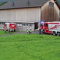 Unfall in Andelsbuch: Pkw landet in Wald