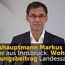 Wohnbauförderungsbeitrag wird Ländersache: Markus Wallner