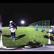 360°-Tackle beim Football-Training  der Blue Devils Hohenems