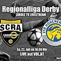 LIVE - Regionalliga Derby - Altach Amateure vs. VFB Hohenems