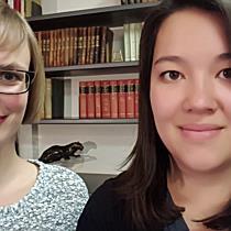 Riedenburg: Die ehemaligen Schülerinnen Isabell Metzler und Debora Roduner im Gespräch