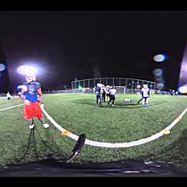 360°-Pass werfen beim Football-Training der Blue Devils in Hohenems