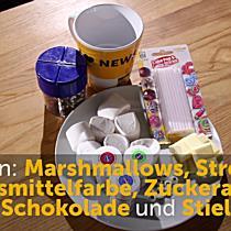 Halloweensnacks: Marshmallow-Monsterköpfchen zum Selbermachen