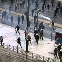 Griechenland: Schwere Ausschreitungen bei Demonstration gegen Sparmaßnahmen