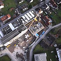 Drohnenflug über die Dornbirner Baustelle Gasser Areal in der Kehlerau