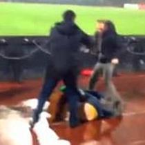 Gewalt im Fußball-Stadion
