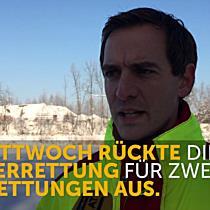 Vandans: Enten sind in Staubecken festgefroren