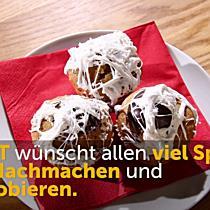 Halloweensnacks: Spinnennetz-Muffins zum Selbermachen