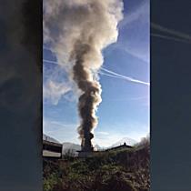 Leserreporter: Großbrand in Schlins