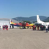 Flughafen Hohenems: Formationsspringer trainieren für Weltrekordversuch in Vorarlberg
