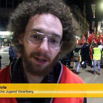 Über 200 Demonstranten laufen durch Bregenz für den Frieden in Nahost