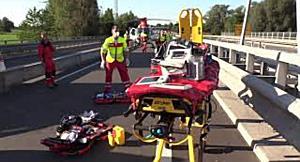 Unfall auf A14 in Vorarlberg - Motorradfahrer schwer verletzt