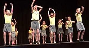 Tanzkunst, die beeindruckt