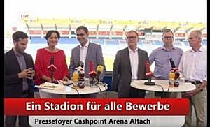 LIVE: PRESSEFOYER - Ein Stadion für alle Bewerbe