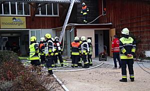 Brand in Hörbranz: Feuerwehr kann Schlimmeres verhindern