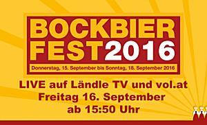 LIVE: Bockbierfest Frastanz 2016