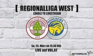 LIVE: FC Dornbirn vs. VFB Hohenems
