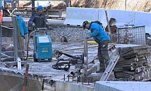 BOHR-TEC - Rückbau der Brücke im Silbertal