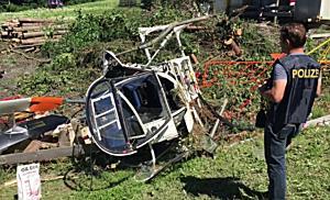 Hubschrauberabsturz in Dalaas