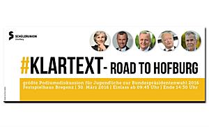 LIVE: #klartext - Road to Hofburg (Schülerunion Vorarlberg)