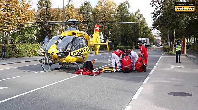 Schwerer Unfall in Dornbirn: Frau von LKW erfasst