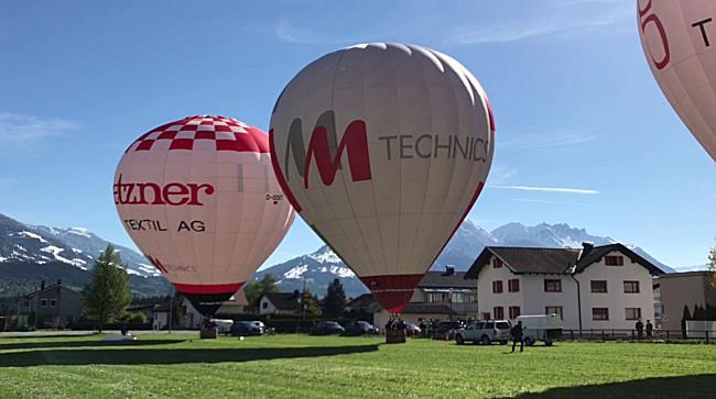 Heißluftballon Start in Nenzing