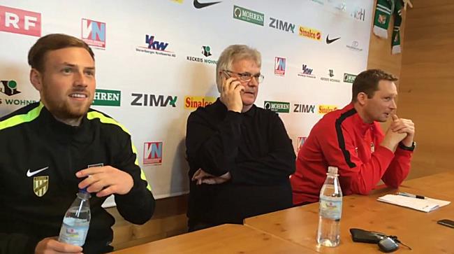 Austria Lustenau: Anruf von SV Ried während der Pressekonferenz