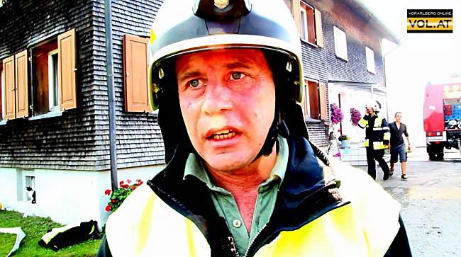 Großbrand Bregenz-Fluh: Der Einsatzleiter der Feuerwehr im I