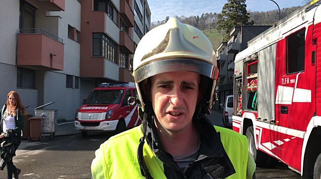 Brand Feldkirch Interview Einsatzleiter Feuerwehr