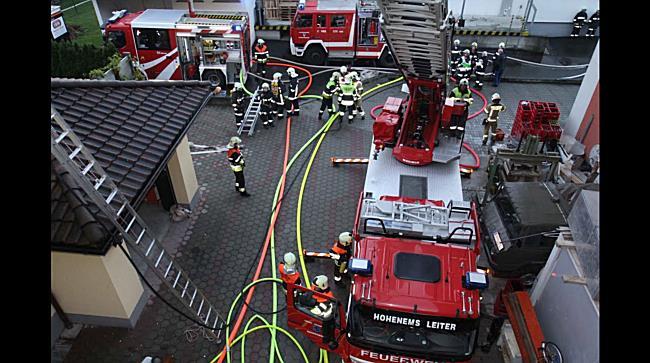 Einsatzleiter zum Dachstuhlbrand