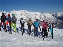 Kaiserwetter beim Skirennen der Mittelschule Schruns-Grüt