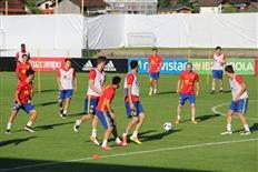Pressekonferenz und Training der Spanischen Nationalmannschaft