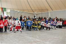 Siegerehrung beim Eishockeyturnier