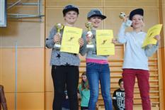 Spannende Preisverteilung des Skirennens der Mittelschule Schruns-Grüt