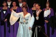 Leiblachtaler Prinzenpaar in Doren
