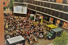 5 Jahre FLAX mit Konzert, Public Viewing