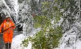 Schnee in Übersaxen