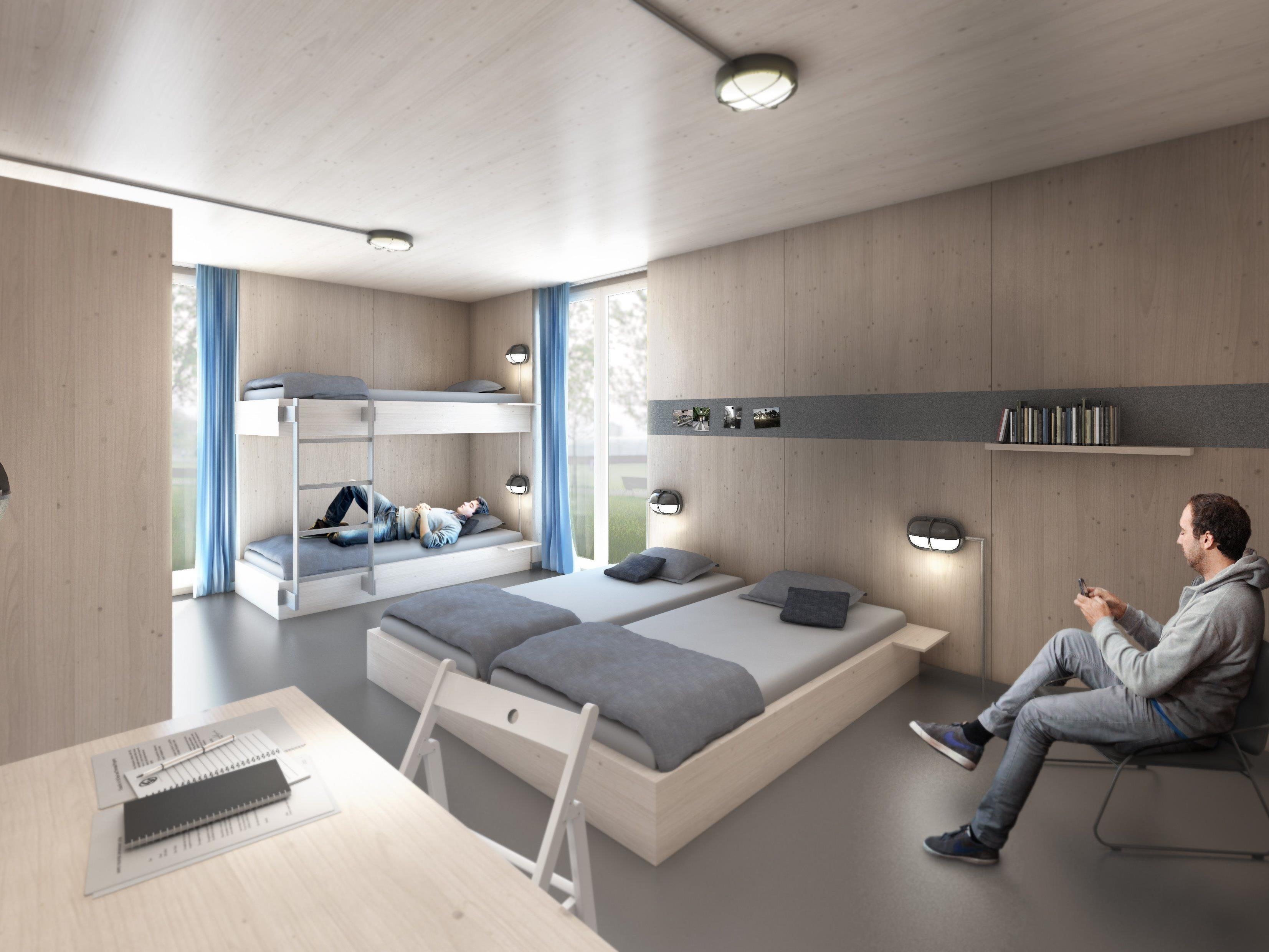 W lder bauen fl chtlingsheime aus holz in hannover for Wohncontainer aus holz