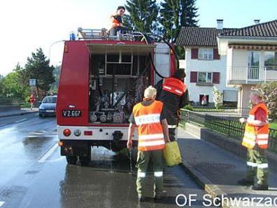 Feuerwehr Schwarzach beim Einsatz