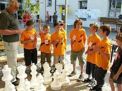 Auch ein großes Schachspiel wurde installiert.