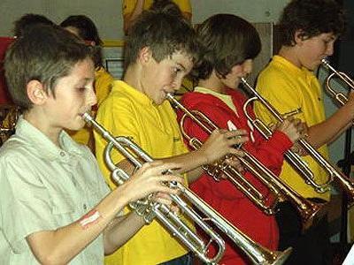 Diese Burschen der Jungmusik Klaus sind nicht nur für Fußball zu begeistern.
