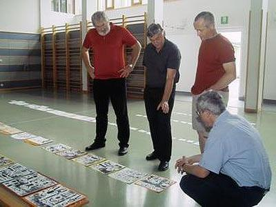 Die Jury mit Manfred Hellrigl, Georg Vith, Ludwig Mähr und Julius Schedl (v. l.).