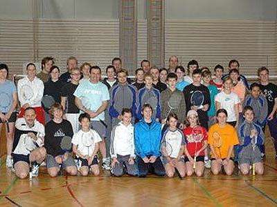 Die Mannschaften des Badminton Club Montfort Feldkirch.